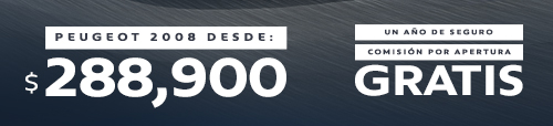 PEUGEOT  2008 DESDE: $288,900 | UN AÑO DE DE SEGURO, COMISIÓN POR  APERTURA GRATIS